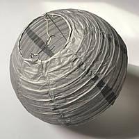 Бумажный подвесной фонарик, серый, 20 см