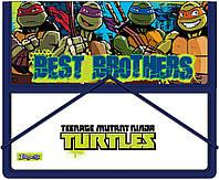 """Папка для тетрадей пласт. на резинке В5 """"Ninja Turtles""""   491055"""