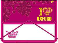 """Папка для тетрадей пласт. на резинке В5 """"Oxford"""" розовая 491051"""