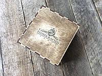 Декоративная коробка-футляр из фанеры состаренная для кожгалантереи