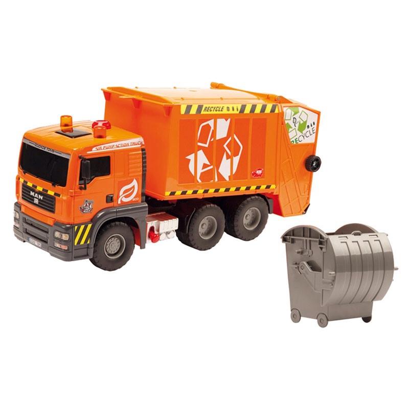 Машинка Dickie Toys Мусоровоз с контейнером, 55 см 3809000