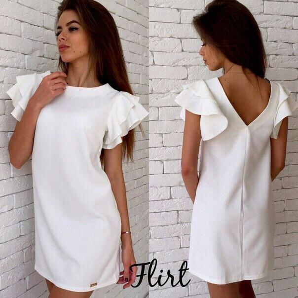 52f25f667b9 Женское летнее платье с рюшами на рукавах
