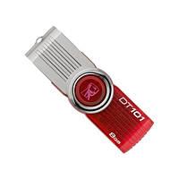 Флеш память 8 GB Kingston DataTraveler 101 Red USB 2.0 (DT101G2 / 8GB), скорость записи: 5 Mbit / s, чтение: 1