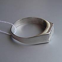 Стильная серебряная мужская печатка с фианитом, 4 грамма, фото 2