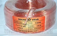 07-03-23. Кабель акустический 2х0,16мм.кв., медь, прозрачный, 100м