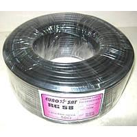 07-02-03. Кабель RG-58U (0.8СU+ Al foil+ 64х0,12мм) чёрный 100м