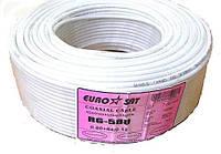 07-02-004. Кабель RG-58U (0.8СU+ Al foil+ 64х0,12мм) белый 100м