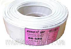 07-02-04. Кабель RG-58U (0.8СU+ Al foil+ 64х0,12мм) белый 100м