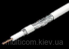 07-02-006. Кабель RG-6 (1,02CU + 4.8PE + 48x0,12CСА), EuroSat,белый, 100м/бухта