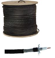 7-0125. Кабель RG-6 наружный c гелевой пропиткой (TY6002) на катушке 305м чёрный