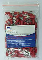 SVL1.25-3.5 LXL Наконечник вилочный с изоляцией 0.5-1.5 мм2. Красный. (100 шт.)