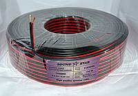 07-04-027. Кабель питания 2жилы 24х0,2мм CСА (0,75мм2) красно-чёрный 100м