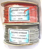 07-06-021. Кабель микрофонный 2 жилы в экране (диам.-4мм), CU, 100м