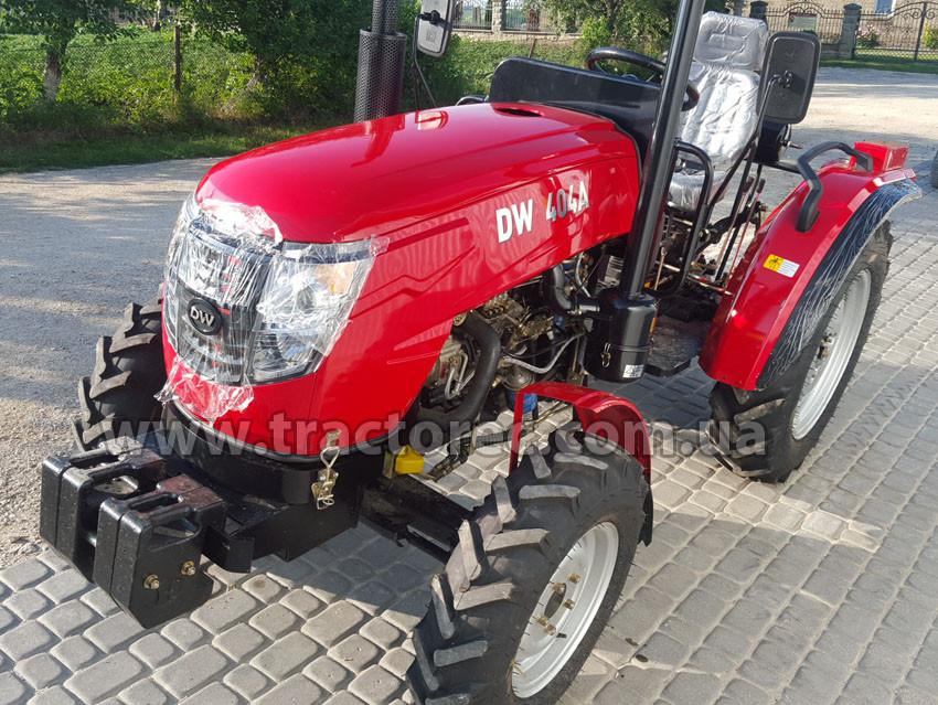 Трактор DW404A, 40 л.с, 4 цил, полноприводный 4х4 тяжелый, блокировка колес НОВЫЙ ДИЗАЙН, БЕСПЛАТНАЯ ДОСТАВКА!