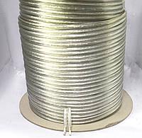7-1011. Кабель акустический 2х1,5мм2 (CU) прозрачный JY-6189 100м
