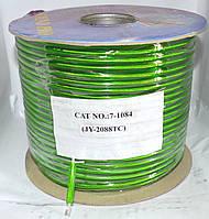 7-1084. Кабель микрофонный 1ж 20х0,12(60/0,1мм) CU диам.-5,8мм зеленый 100м