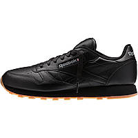 Кроссовки Reebok Classic Leather Black/Gum 49800 оригінал