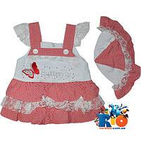 "Летний детский сарафан ""Butterfly""  для девочки (рост 68-74-80 см)"