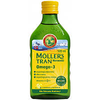 Moller's tran omega-3 норвежский рыбий жир с лимоном, 250 мл