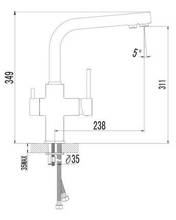 Смеситель для кухни Imprese DAICY 55009S-F, фото 2