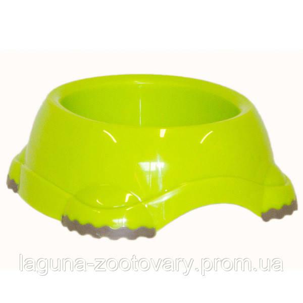 Moderna МОДЕРНА СМАРТИ №1 миска для собак и кошек, пластик 315 мл, d-12 см