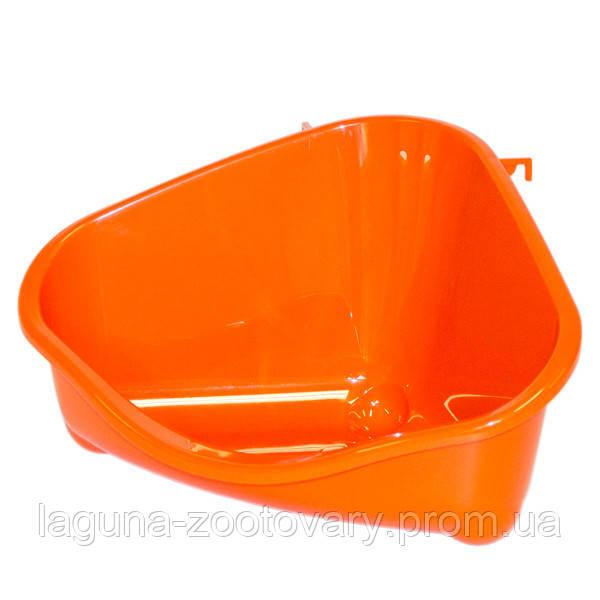 Moderna МОДЕРНА ПЕТС КОРНЕР угловой туалет для грызунов, средний, 35х23,4х19 см
