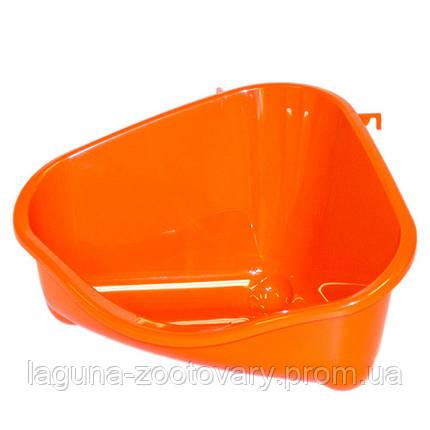 Moderna МОДЕРНА ПЕТС КОРНЕР угловой туалет для грызунов, средний, 35х23,4х19 см, фото 2