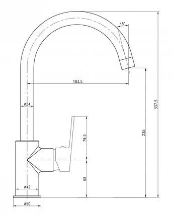 Смеситель для кухни Imprese LESNA 55070, фото 2