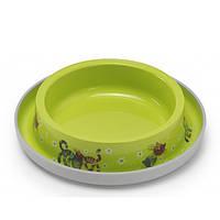 Moderna Trendy Dinner Cat Friends Forever МОДЕРНА миска для кошек, защита от муравьев, пластик, ярко-зеленый, дизайн Друзья Навеки, 210мл, d15см