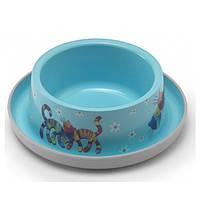 Moderna Trendy Dinner №1 Friends Forever МОДЕРНА миска для кошек, защита от муравьев, пластик, ярко-голубой, дизайн Друзья Навеки, 350мл, d16см