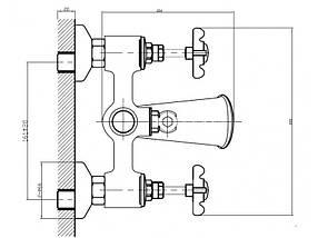 Смеситель для ванны Imprese Cuthna 10280 antiqua, фото 2