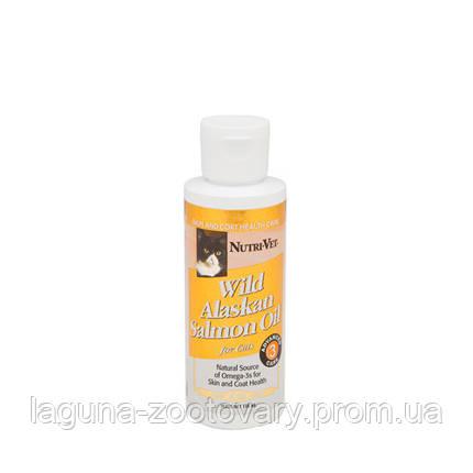 Nutri-Vet Salmon Oil НУТРИ-ВЕТ 118мл МАСЛО ДИКОГО ЛОСОСЯ витаминная добавка для шерсти кошек, жидкая, фото 2
