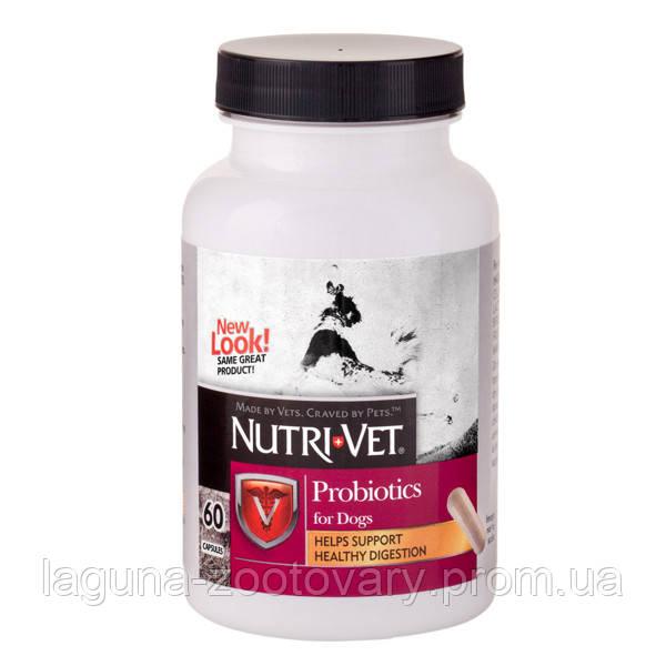 Nutri-Vet Probiotics НУТРИ-ВЕТ ПРОБИОТИКИ для собак, 60 капсул