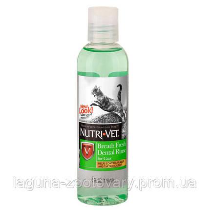 НУТРИ-ВЕТ СВЕЖЕЕ ДЫХАНИЕ жидкость для кошек от зубного налета и запаха из пасти, концентрат, 118 мл, фото 2
