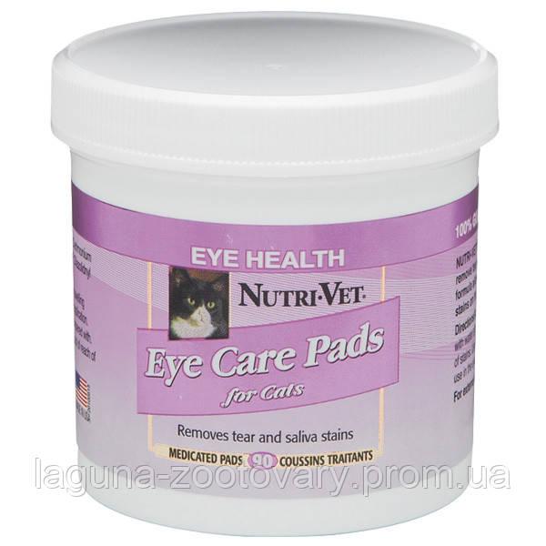 НУТРИ-ВЕТ ОЧИСТКА ПЯТЕН влажные салфетки для кошек, от пятен под глазами, вокруг пасти и на лапах, 90 шт.