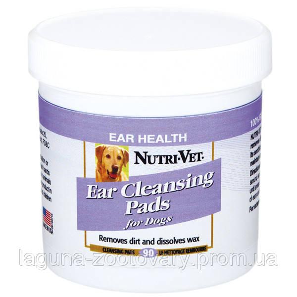 НУТРИ-ВЕТ ЧИСТЫЕ УШИ влажные салфетки для гигиены ушей собак, 90 шт.