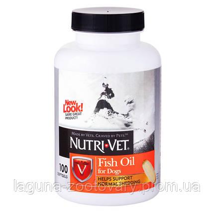 Nutri-Vet РЫБИЙ ЖИР (Fish Oil) добавка для шерсти собак, фото 2