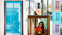 Антимоскитная дверная шторка на сплошном магните 45см х 210см