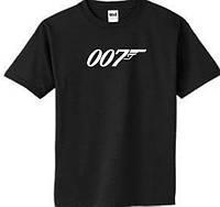 Футболка с логотипом агента 007 Джеймса Бонда, фото 1