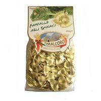 "Макароны бантики фарфалле со шпинатом ""Tarall oro"" Farfalle Agli Spinaci 250 гр."