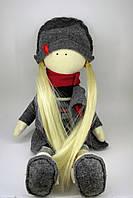 Кукла-блондинка с длинными волосами в стиле Тильда