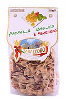 "Макароны бантики фарфалле с базиликом и помидором ""Tarall'Oro"" Farfalle Basilico e Pomodoro 250 гр."