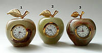 Часы -яблоко из оникса (6 см)