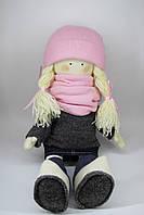 Кукла-девочка с розовыми аксессуарами в стиле Тильда