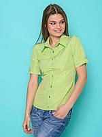 Стильная модная рубашка из коттона в клетку р.44,46