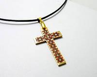 Совет, крестик нательный с эмалью