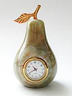 Часы-груша из оникса (10 см)