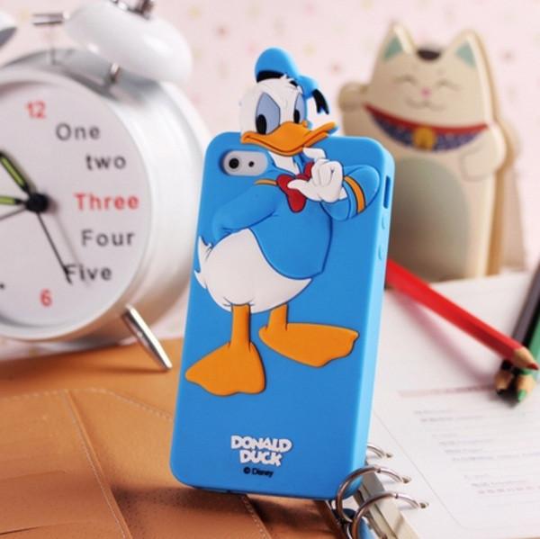 Чехол для iPhone 4 4S Donald Duck силиконовый
