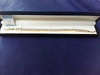 Тонкий браслетик с позолотой с прозрачными фианитами