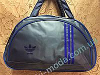 Сумка спортивная адидас серый+электрик только ОПТ/Женская спортивная спорт сумка